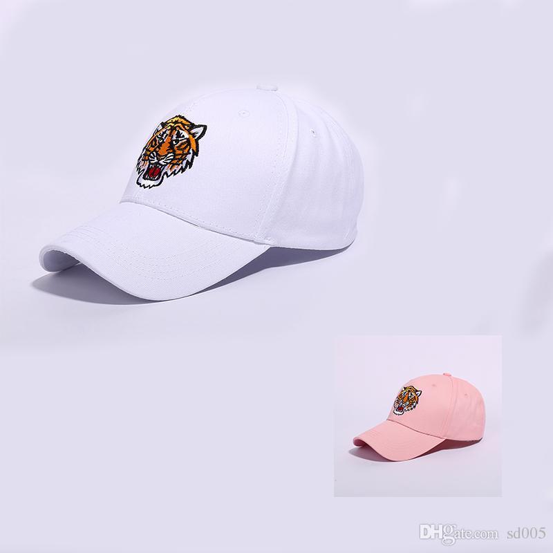 outlet store e8a2d eaac6 Hip Hop Dance Men Women Favor Baseball Cap Tiger Head Trend Designer  Casquette Cotton Breathable Fitted Hats Black White 11 5xy ZZ Flexfit Cap  Ny Caps From ...