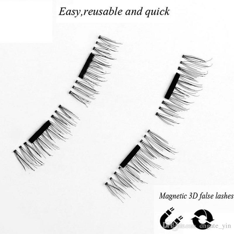 Newest 3D False Eyelashes!!0.2mm Permanent Magnetic Eyelashes 3D Mink Magnet Lashes Natural 100% Handmade Magnetic Eyelash reusable