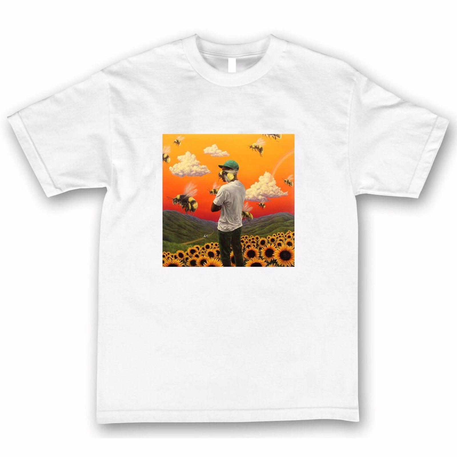 591a98bda4f34b Compre Tyler The Creator Camiseta De Flower Boy EARL Odd Future Cherry Wolf  Gang OFWGKTA OF A  11.58 Del Wholesaletshirts47