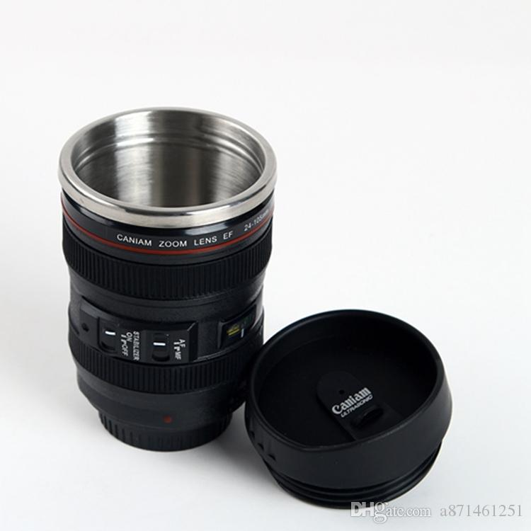 Camera Lens Mug 400ml Creative Canon Portable Stainless Steel Tumbler Travel Vacuum Flask Milk Coffee Mug Novelty cups