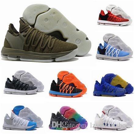 low priced f5722 49830 2017 FMVP Correct Version Kevin KD X 10 Mens Basketball Shoes Warriors Home  Wolf Durant 10s Training Sports Sneakers US 7-12