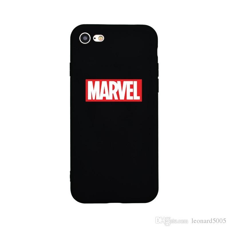/ 2018 Nouveau design classique MARVEL Logo Etui en silicone pour iPhone 7 7Plus 8 Plus 6s Plus X 10 Phone Cases Téléphone Housse