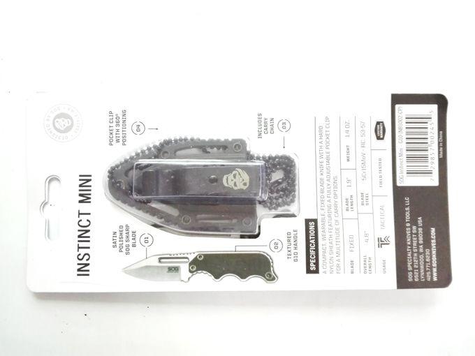 1 Unids Muestra Sog Collar Survival Cuchillo 58-60HRC 5CR15MOV Hoja de Satén de Acero Cuchillos Tácticos de Caza Al Aire Libre Que Acampan Herramientas EDC al aire libre