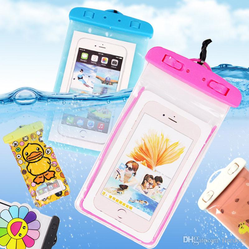 Phone Case colourful cheap Waterproof Bag For iphone X 8 7 6 6s plus for samsung Water proof Dry Bag for smart phone