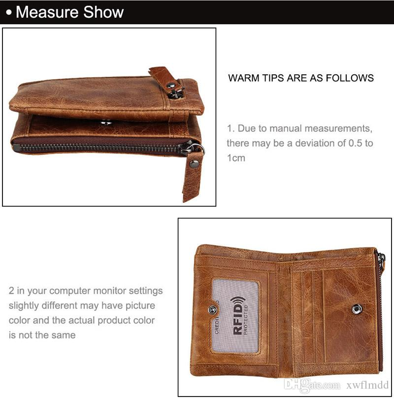 2018 Male Genuine Leather luxury wallet Casual Short designer Card holder pocket Fashion Purse wallets for men