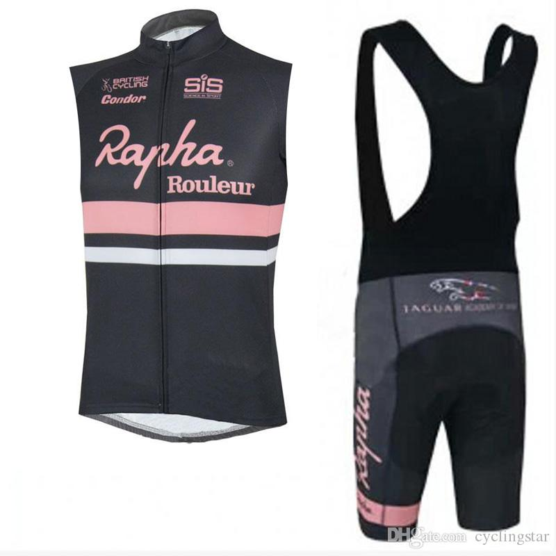 86f495f94 Pro Rapha Cycling Jerseys Set Bicycle Clothes Summer Breathable Quick Dry Sleeveless  Bike Vest Bib Shorts Mens Cycling Clothing C2601 Bike Clothing Cycling ...