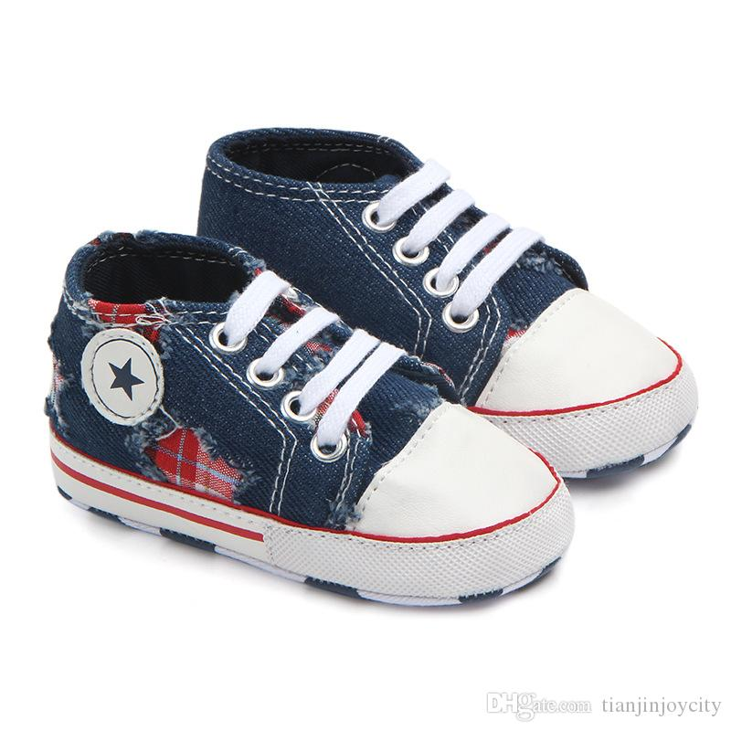 f7b6422b152ab Classic Baby Shoes Newborn Walkers Toddler Children Casual Canvas Football Shoes  Boy Girl Sneaker Infant Cool Fashion Prewalker Hiking Shoes Kids Shoes For  ...