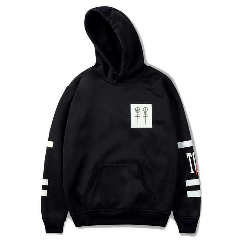 Maglione con cappuccio da uomo 2018 New Baseball Uniform Coat Nero girocollo il tempo libero paio maglione moda stampa felpa di grandi dimensioni