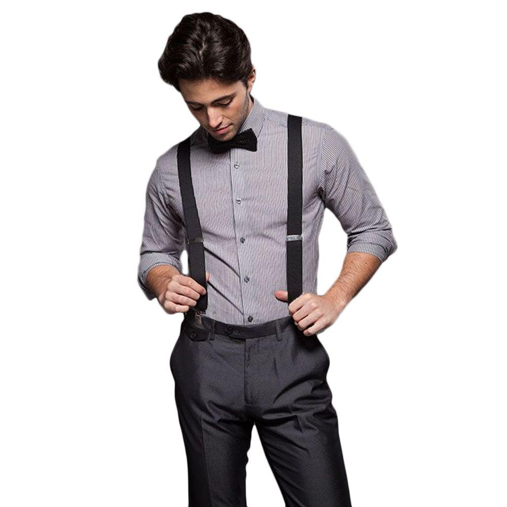 f5b76dc59 Fashion Women Men s Unisex Clip-on Braces Elastic Slim Suspender Y-Back  Suspenders Male Pants Jeans Braces 20 Colors 2.5 100cm