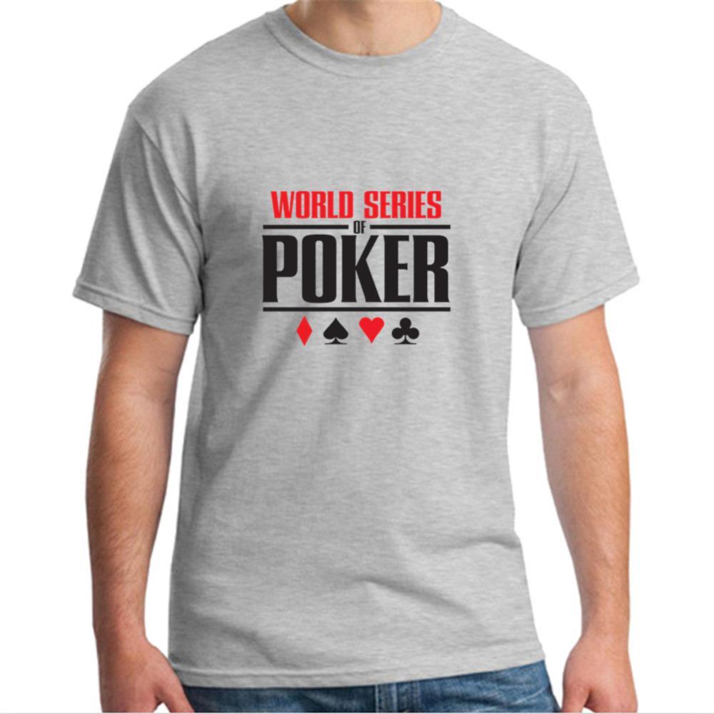 Moda De Verano Precio Barato Cuello Redondo Hombres Camisetas De Los Hombres  Serie Mundial De Poker Camisetas WSOP Logotipo Deal With It T Shirt Ts  Shirts ... c119fb14cd04a