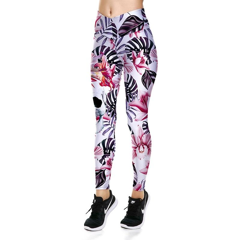 2018 halloween pink flower skull lady leggings sports pants yoga 2018 halloween pink flower skull lady leggings sports pants yoga leggings fitness running tight gym exercise pants from aukool 1608 dhgate mightylinksfo