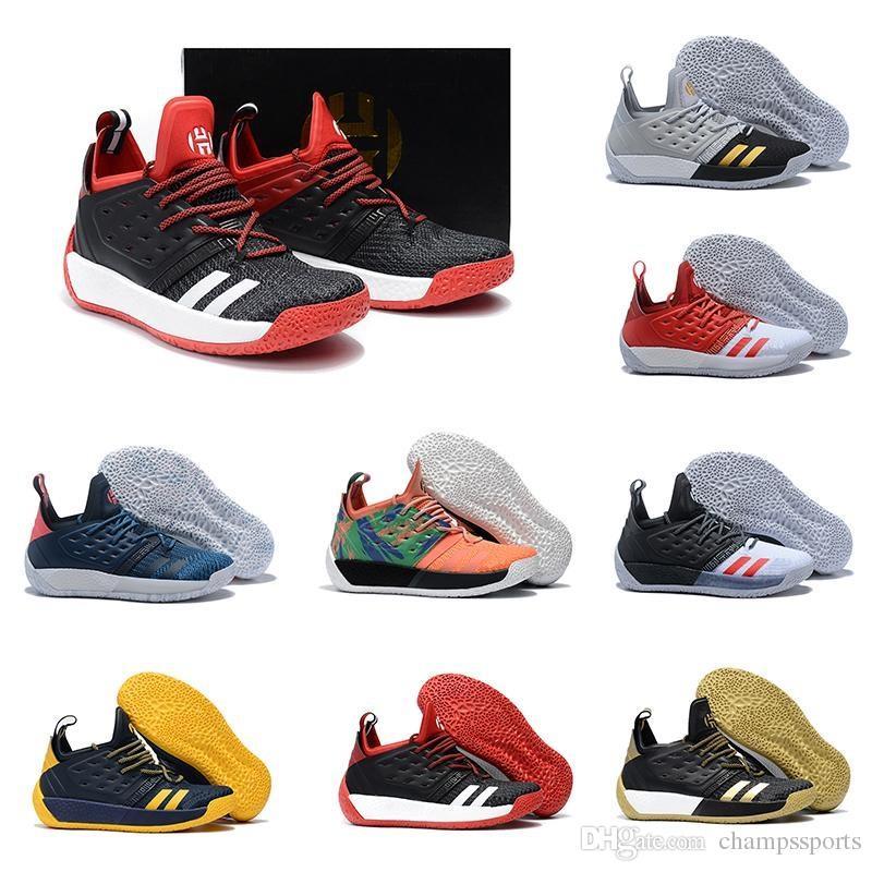 newest 72986 be93e Acheter Date De Haute Qualité James Harden Vol 2 Basketball Chaussures Noir Bleu  Blanc Gris Hommes Harden Vol.2 Sneakers À Vendre 7 11.5 De  96.45 Du ...