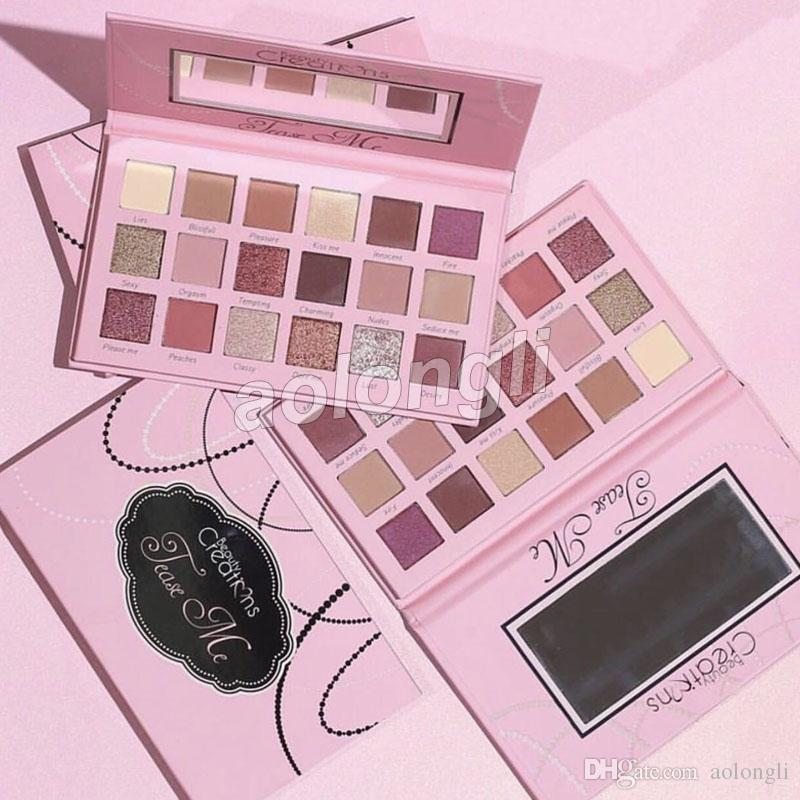 New Beauty creations tease me eyeshadow palette 18 Colors shimmer Eye shadow Glitter Eyeshadow Beauty Creations Rose Gold palette free DHL
