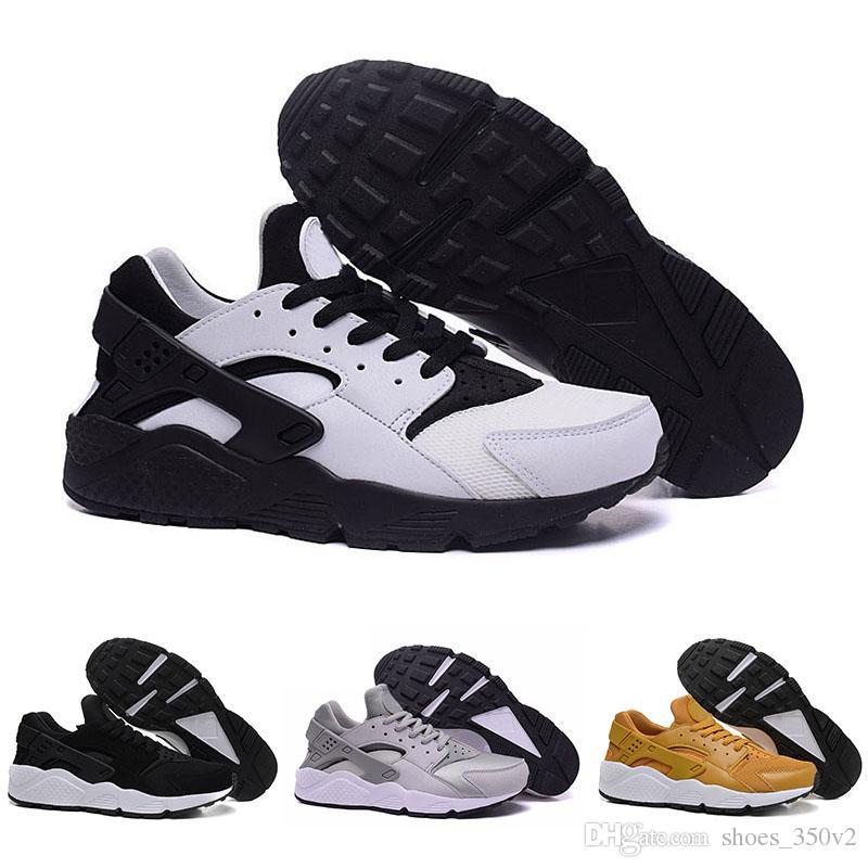 9603674a3b84 High Quality Air Huarache 1 Ultra Shoes Men Casual Shoes Triple Black White  Red Womens Huraches Casual Breathable Casual Shoes Eur 36 45 Cute Shoes Mens  ...