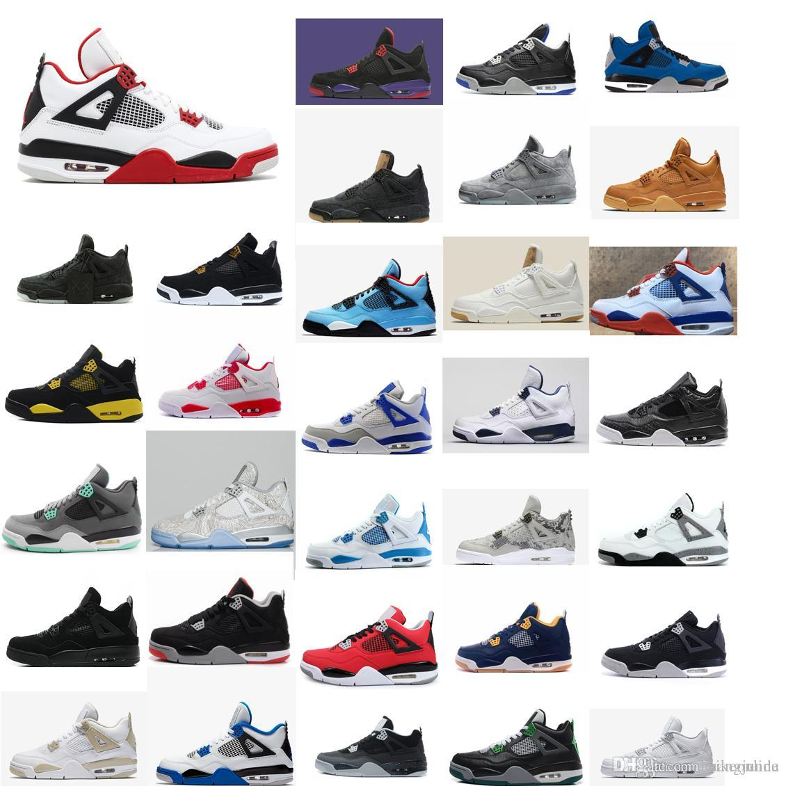 1e4faa9699f Cheap New Mens Jumpman 4 IV Basketball Shoes 4s NRG White Red Black ...