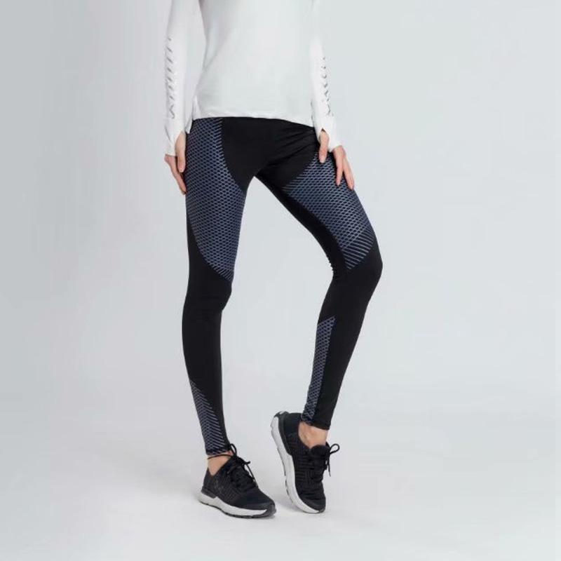 c53d8122fe Compre Pantalones De Yoga De Cintura Alta Para Mujeres Pantalones De Deporte  De Cintura Cruzada Medias De Compresión Para Correr Pantalones Deportivos  De ...