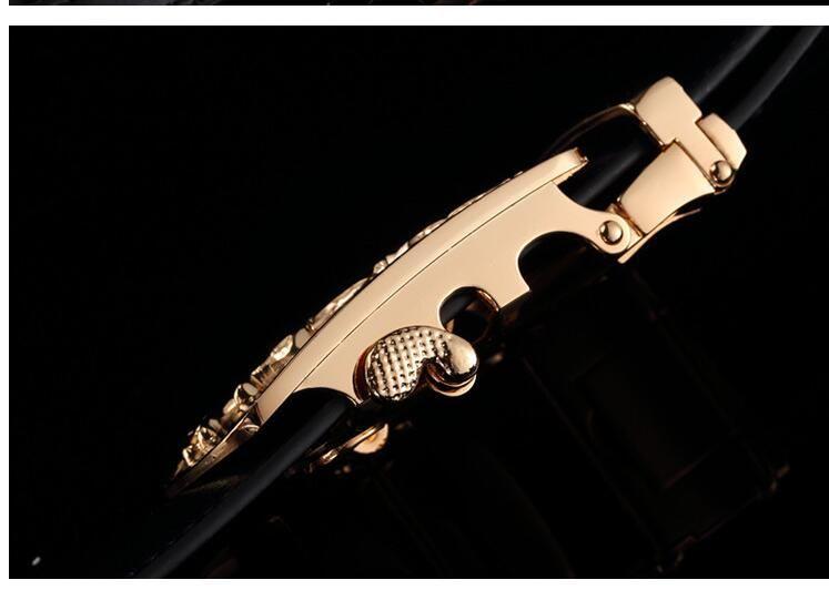 الرجال حزام العلامة التجارية الشهيرة مصمم حزام رجالي أحزمة فاخرة فضة ليوبارد مشبك التلقائي الأزياء ceinture أوم الفاخرة شحن مجاني