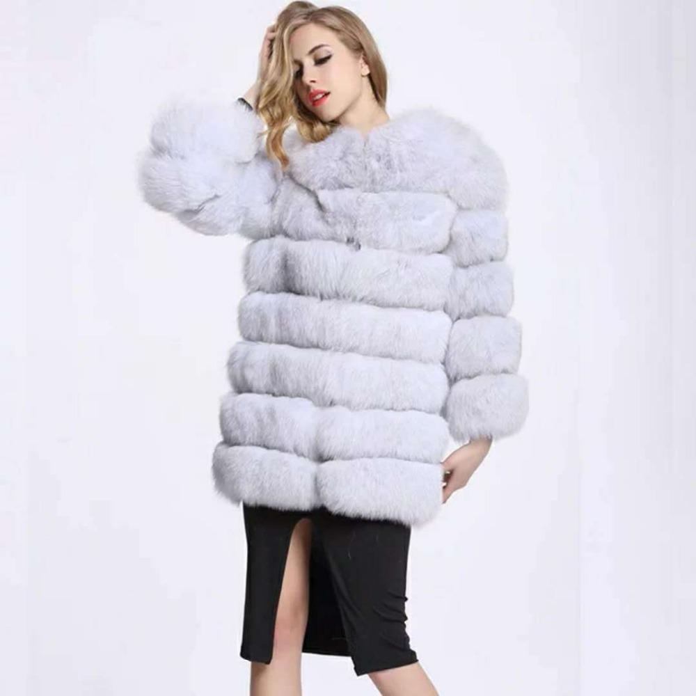 c52b43e0e Vintage fluffy faux fur coat women Long furry fake fur winter outerwear  pink coat 2018 autumn casual party overcoat
