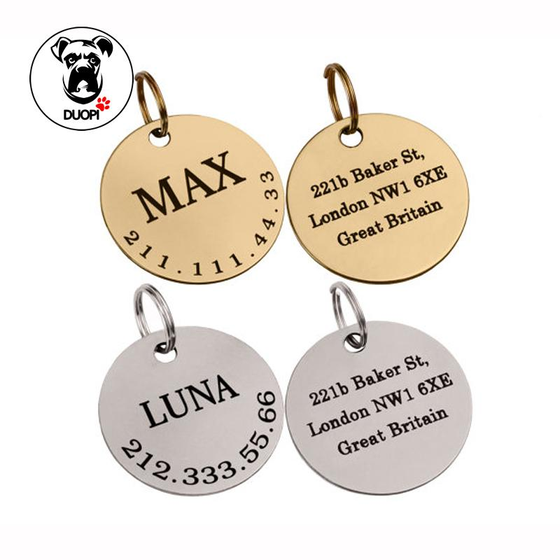 Tags Steel Engraved S 24 For Free Bone Laser Two Dog Id com 88 Text Dhgate On Mudanflower Stainless Customized 2019 Tag Pet From Engraving Personalized