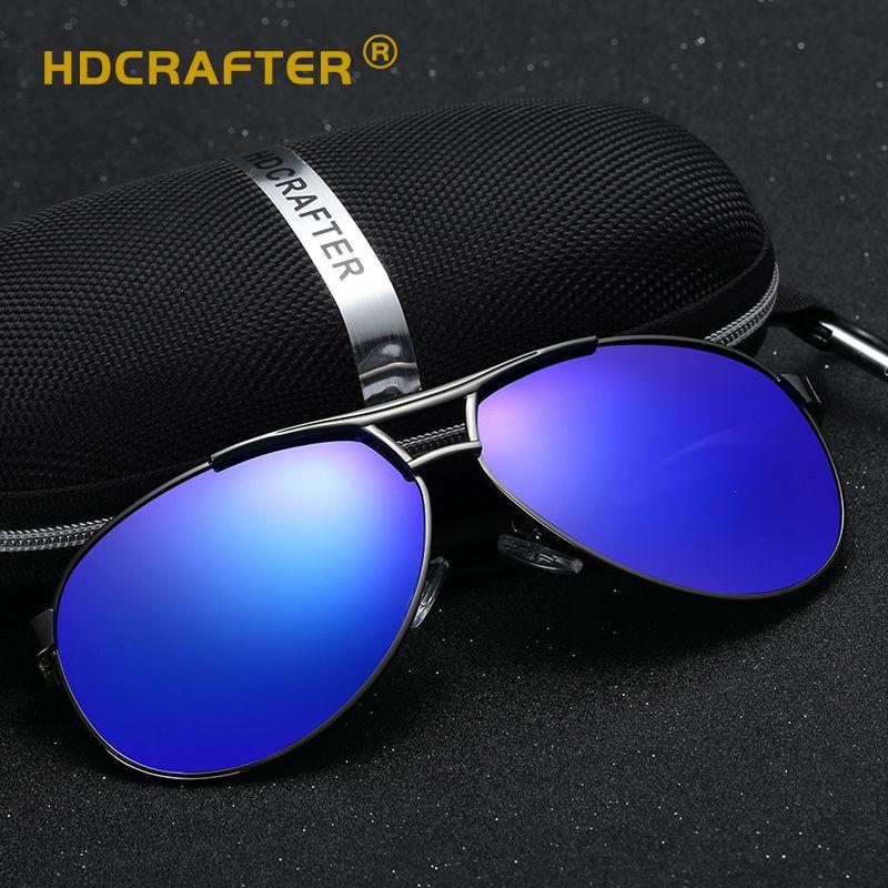 581d04afbd HDCRAFTER Pilot Sunglasses Men Polarized Uv400 High Quality Classic Retro  Men Sun Glasses For Male Brand Driving Sunglasses Serengeti Sunglasses Sun  Glasses ...