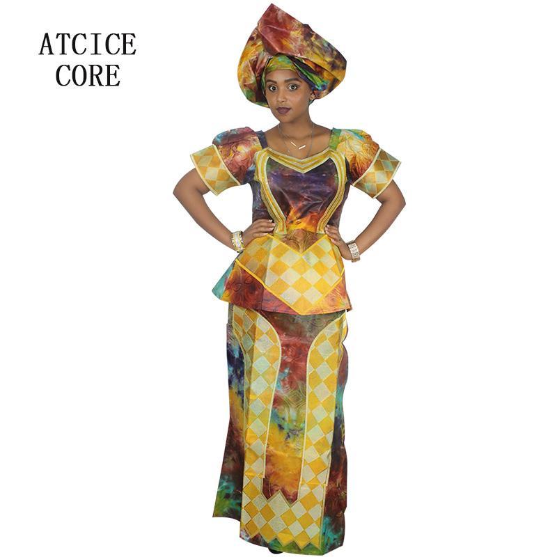 998c08f37 Compre Vestidos Africanos Para As Mulheres 100% ALGODÃO NOVO MODA AFRICANO  DEISGN BAIZN RICHE BORDADO Roupas DP126   De Wochanmei
