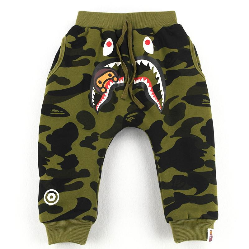 0a718acb4 Trousers Cotton-padded Trousers Double-deck Camouflage Children s ...