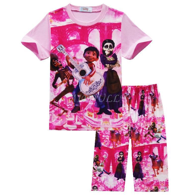 dc56915551ce Girls Boys Clothes Kids Pyjamas Suit Movie Coco Children Pajamas ...