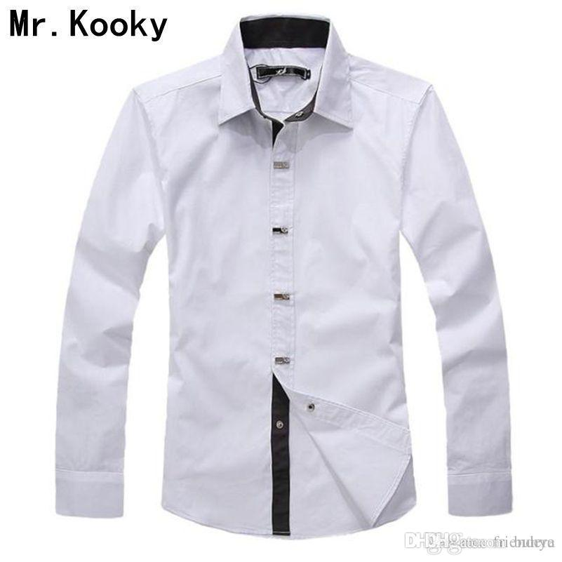 8fbc5411896 2019 Mr.Kooky 2015 New Fashion Spring Autumn High Quality Male Clothes  Casual Long Sleeve Solid Shirt 100% Cotton Men Size XXL Shirt From Bunye