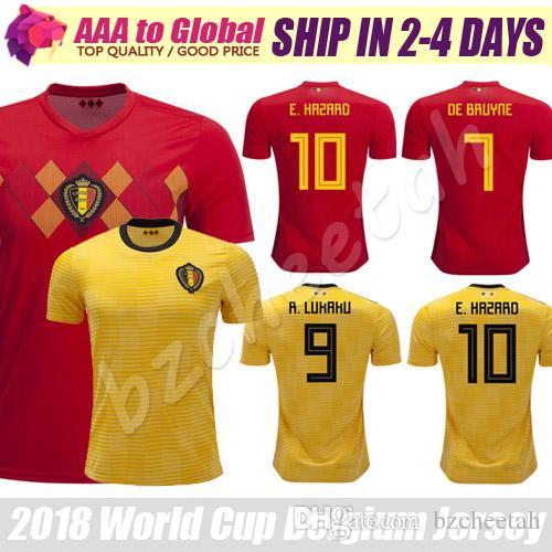 Compre Bélgica Jersey 2018 Copa Do Mundo   10 Perigo   9 Lukaku   7 De  Bruyne Camisas De Futebol 17 18 Camiseta De Futbol Belgica Soccer Jersey De  Bzcheetah ... ba526e2dde8ca