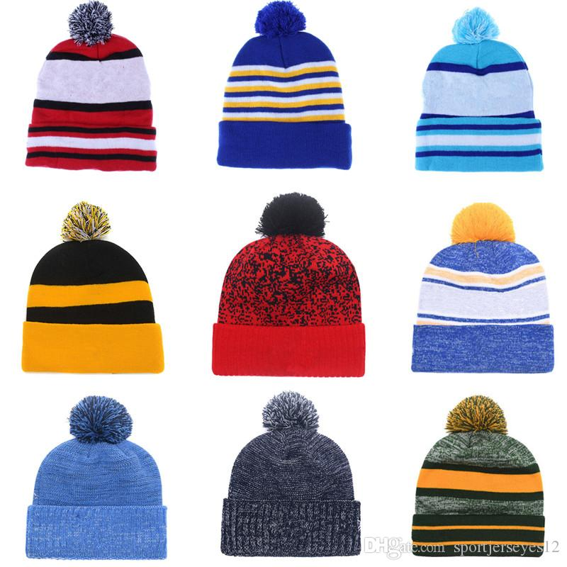 235af0ef Wholesale 2018 Winter Football Basketball Beanie 32 Team Beanies Caps For  Men& Women Knit Hats Red Grey Blue Green Etc More 5000 Styles