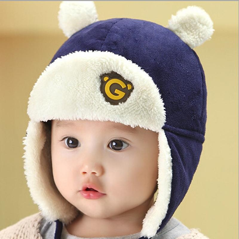 f100d3212 2019 Baby Boy And Girl Hats Autumn And Winter Plus Velvet Ear Cap Children  Lei Feng Hat Baby Hair Ball Sweater Warm Hedge Cap Beanies From Cassial, ...