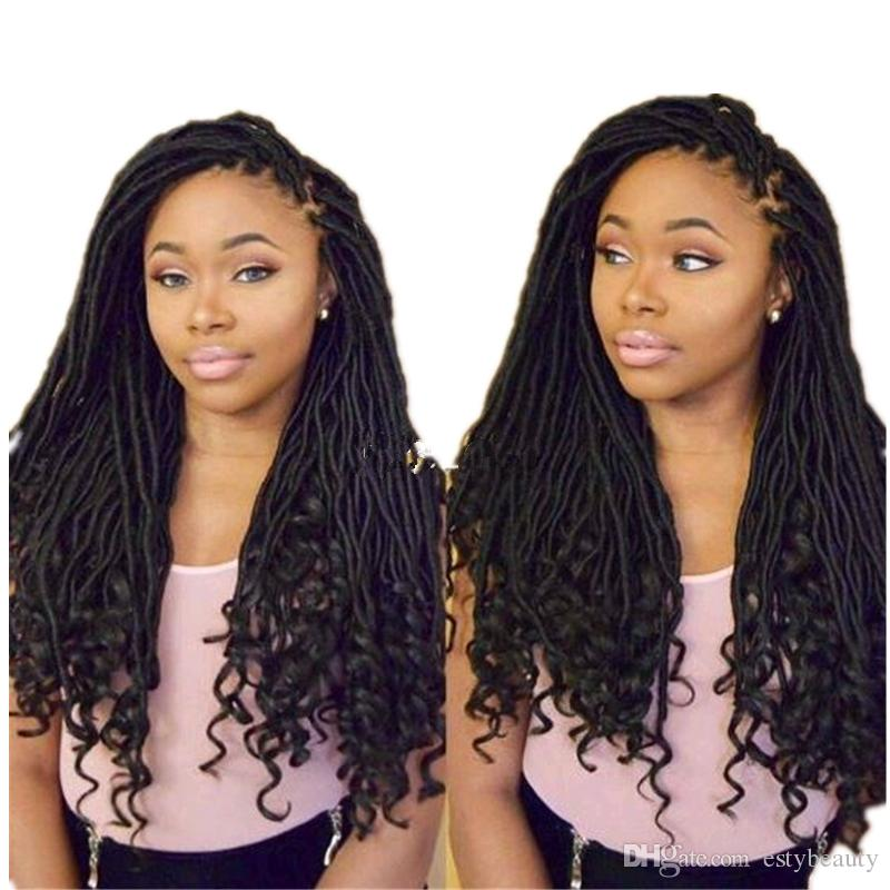OMBRE COLOR GODDESS LOCS HAIR marley braiding hair Extensions free ship new style 18inch crochet braids hald wave hald curly for black women
