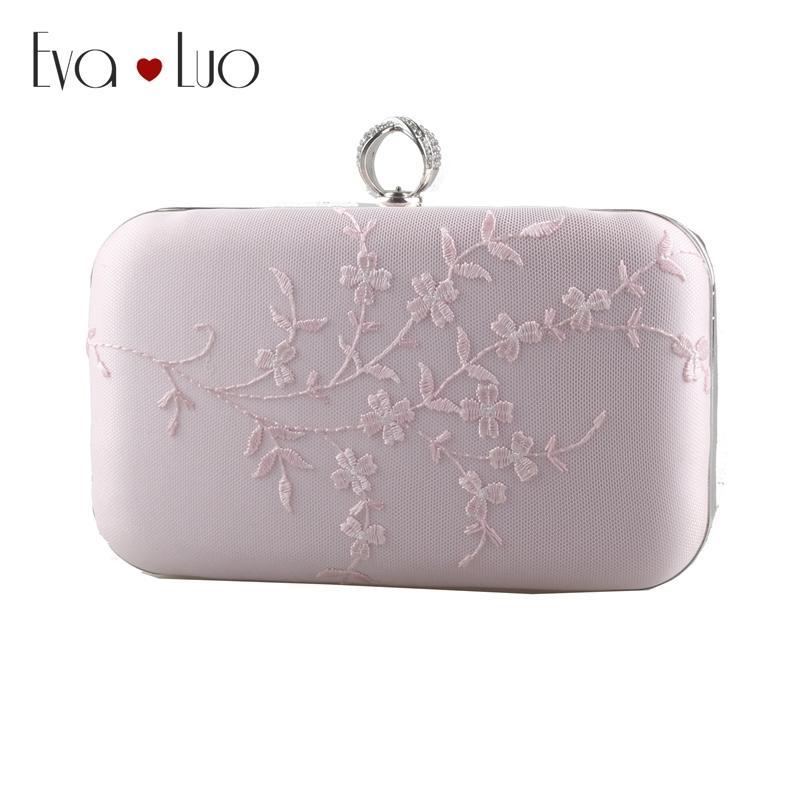 561f4db9cd EB774 Custom Made Elegant Pink Lace Evening Bag Clutch Bags Clutches Lady  Wedding Purse Rhinestones Wome Handbags Black Bags Name Brand Purses From  ...