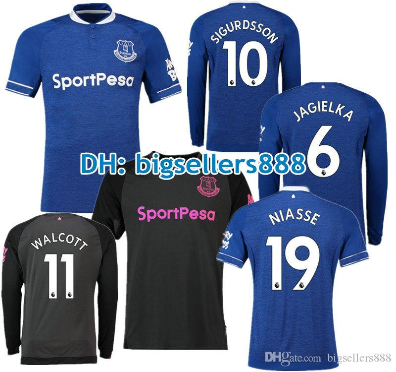 a55b61339 2019 ROONEY 18 19 Everton Home Blue Soccer Jersey Away NIASSE SANDRO  MIRALLAS BAINES WALCOTT JAGIELKA 2018 2019 Top Thai Quality Football Shirt  From ...