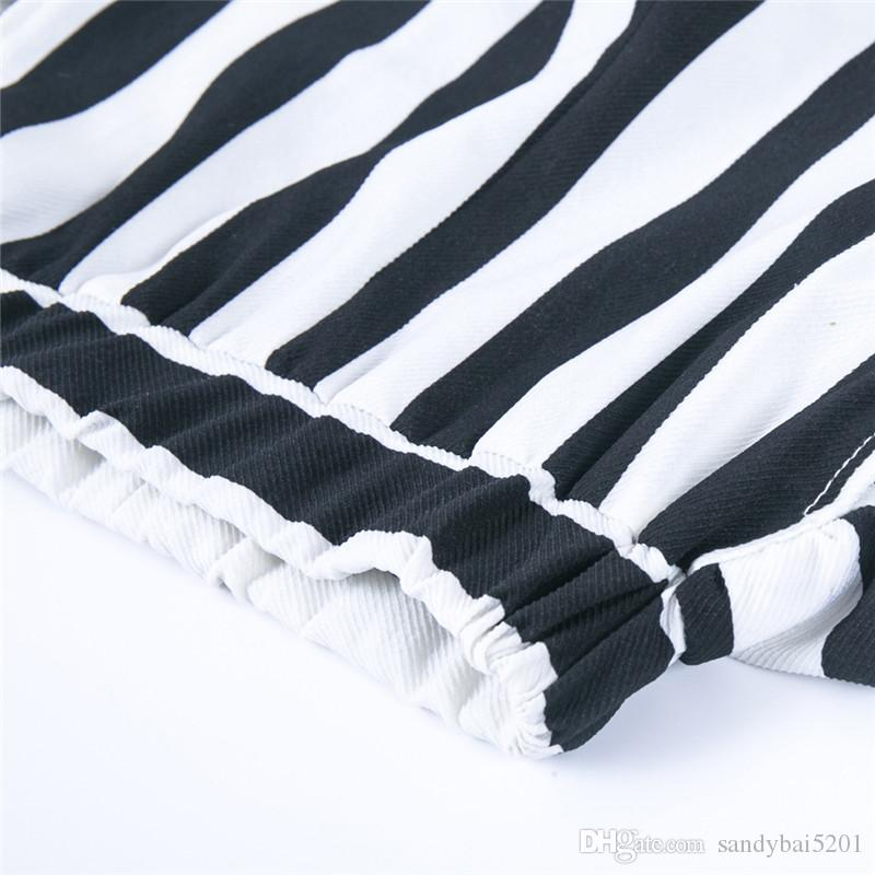 Kids Girls Clothing Sets 1-5T Baby Girls Tshirt + Striped Wide pants Suits 2018 New Infant Princess Outfits Children Clothes D875