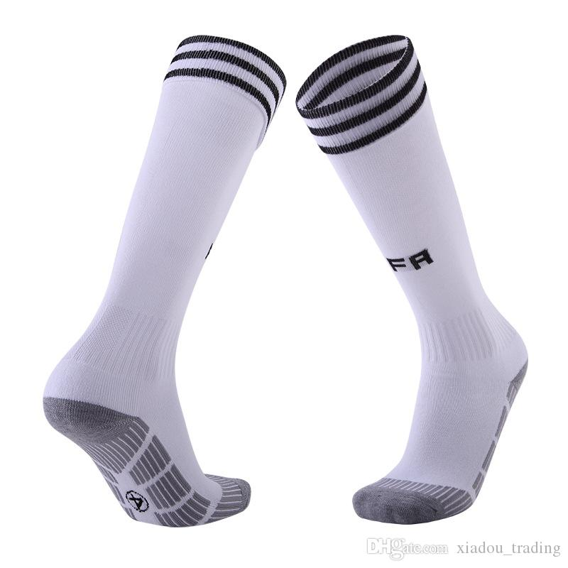 Soccer Socks Professional Club Football 2018 World Cup Adult Football Socks Student Towel Antiskid Stockings Argentina Spain Training Socks