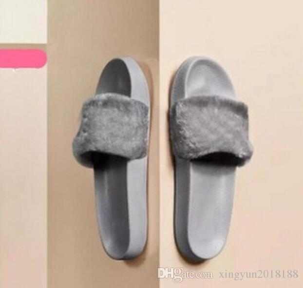 Women Slippers Indoor Sandals Girls Fashion Scuffs White Grey Pink Black Slide Womens Warm Indoor Slippers Sneakers Shoes