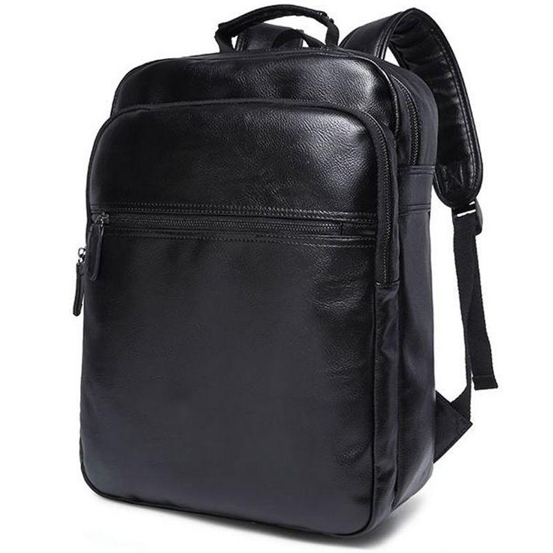 Vogue Mens Backpacks Preppy Style Leather Backpack Men Schoolbags Men  Travel Bags Male Shoulder Bag Laptop Casual Backpack Messenger Bags Leather  Backpack ...