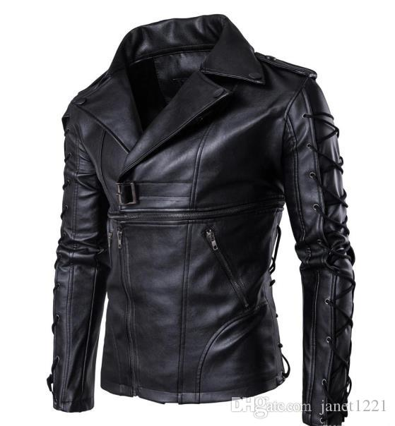 6194fd711acec 2019 High Quality Men Winter PU Jackets Plus Size Casual Cool Motorcycle Jacket  Coat Slim Lapel Neck Bomber Male Leather Jacket T170614 From Janet1221