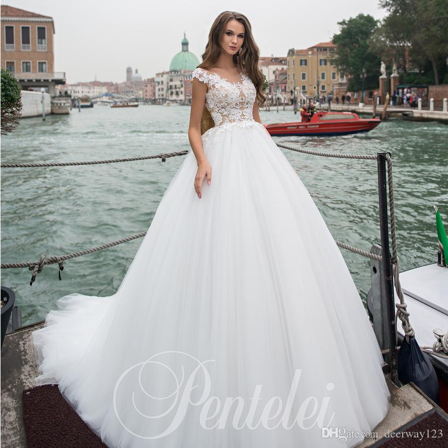 Amazing Cheap Wedding Dresses Ball Gown Scoop Cap Sleeve With