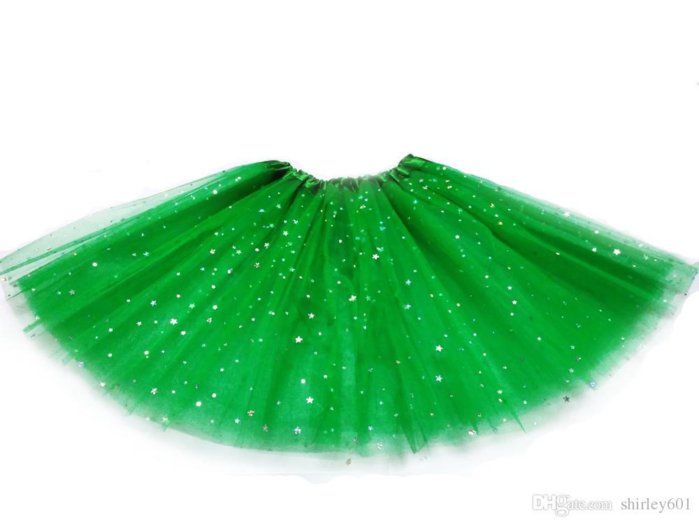 Halloween Christmas Women Tutu Skirt Star Tutus Adult Dress Up Skirt 3 layers fluffy Girls Teen Sequins Party Dancewear Tutu Pettiskirt