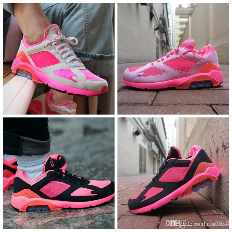 2018 New Arrival 180 Air LACER Casual Running Shoes for Good quality PINK Fuchsia Men Women Training Sneakers Jogging Size 36-45 cheapest price online clearance 2014 unisex clearance outlet Orange 100% Original lGpEcbb
