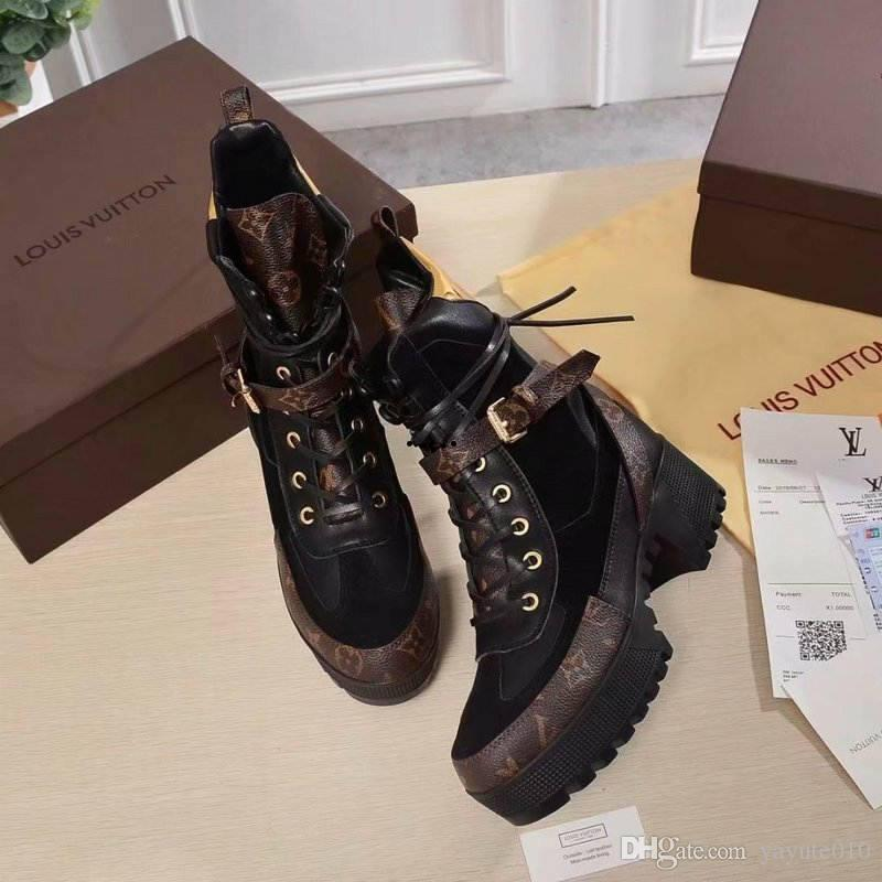 b3563b33fd6 23 Style Luxury Designer Ladies Winter Boots High Quality Leather Designer  Shoes Thick Bottom Women Boots Plus Size EU35 42 Leather Boots For Women  Sporto ...