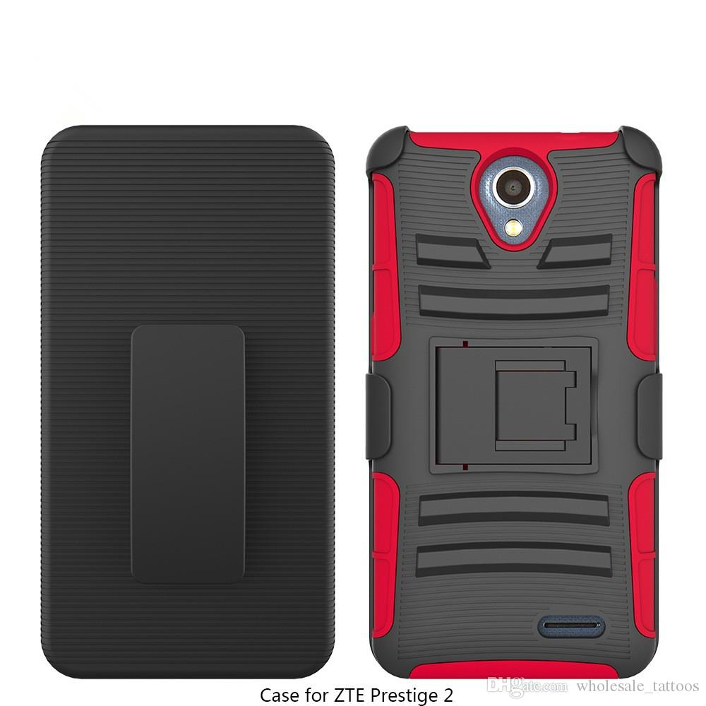 promo code 2c3de 47526 Armor Case For ZTE ZMAX Pro Blade X Max Z983 Carry Z981 Blade X2 Max  Sequoia Bracket Belt Clip Kickstand Plastic 360 Degree Protective Case