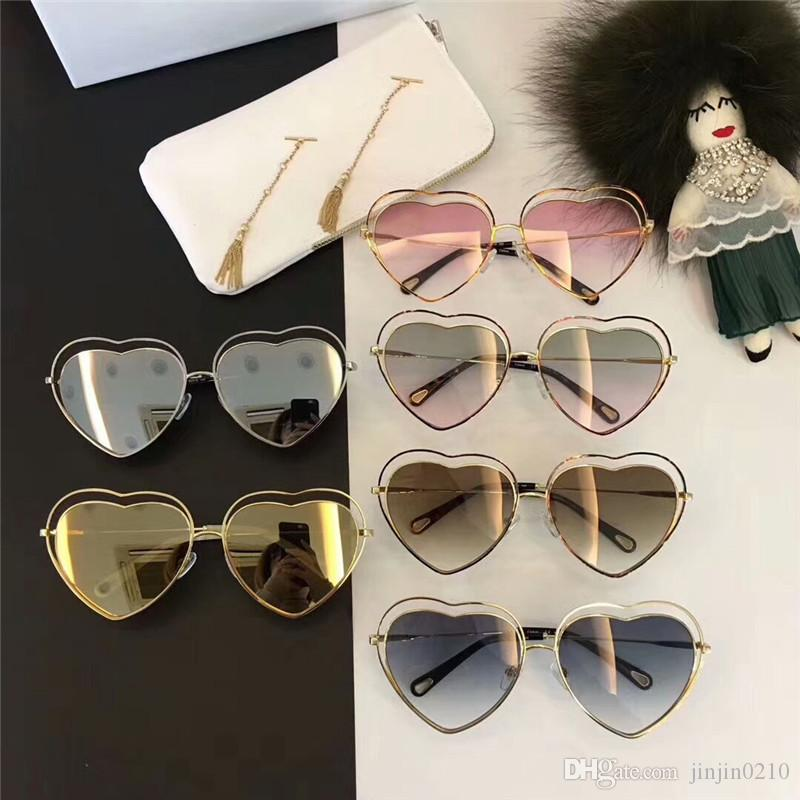 Newest Womens Luxury Chloe Designer Heart Electroplating Sunglasses For  Women With Original Box And Papers Fastrack Sunglasses Smith Sunglasses  From ... fc606f67b9