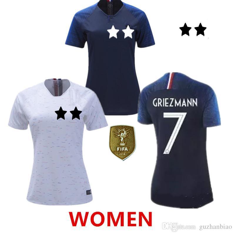 sneakers for cheap e3ce7 4fa6f 2018 WOMEN soccer jersey POGBA world cup GRIEZMANN MBAPPE KANTE GIROUD  Football shirts 18 19 home away jerseys femmes maillot de foot