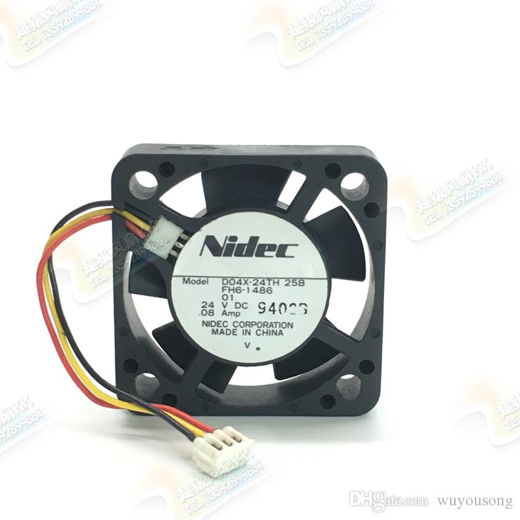 Original Nidec D04X-24TH 4010 4cm 24V 0 08A Inverter Cooling Fan