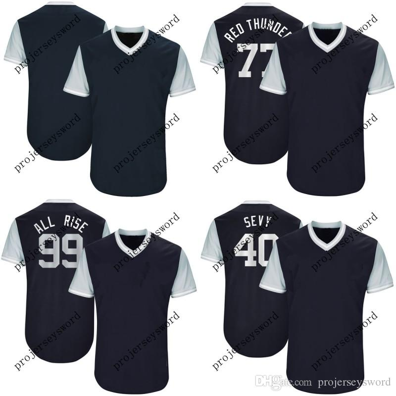 new arrival 09ea3 ed5c4 New York Jersey 55 Sonny Gray Pickles 74 Ronald Torreyes Toe 99 Aaron Judge  All Rise 2017 Players Weekend Baseball Jerseys