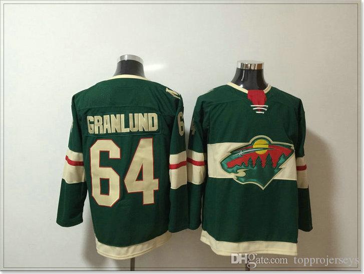 Minnesota Wild #64 Mikael Granlund New Mens Ice Hockey Shirts Pro Sports team Jerseys Uniforms Stitched Embroidery Sz S-XXXL For Sale