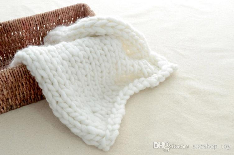 60*60cm Photography Knitted Props Blanket Handmade Weaving Crochet Linen Woolen Blankets Christmas Gifts TY7-127
